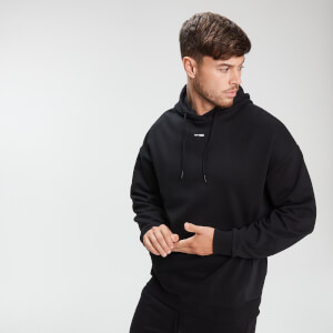MP Men's Rest Day Mixed Fabric Hoodie - Black