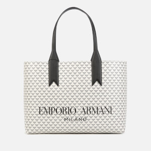 Emporio Armani Women's Frida Shopping Bag - White/Black