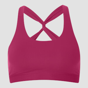 Power Mesh Sports Bra - Crushed Berry