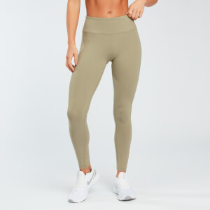 Power Mesh Leggings - Fakó Zöld