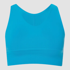 Power Longline Sports Bra - Sea Blue