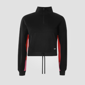 Zapinana Bluza Power Funnel Neck - Czarna