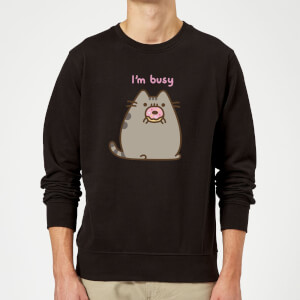 Pusheen I'm Busy Sweatshirt - Black