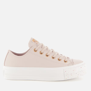 Converse Women's Chuck Taylor All Star Lift Speckled Ox Trainers - Platinum Violet/Rose Maroon
