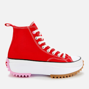 Converse Women's Run Star Hike Hi-Top Trainers - University Red/Peony Pink