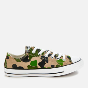 Converse Men's Chuck Taylor All Star Camo Ox Trainers - Black/Candied Ginger/White