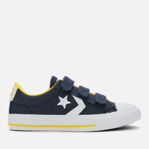 Converse Kids' Star Player 3V Canvas Ox Trainers - Obsidian/Amarillo/White