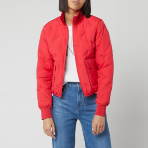 KENZO Women's Down Puffer Jacket Packable - Medium Red