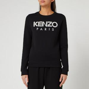 KENZO Women's Classic Sweatshirt Kenzo Paris - Black