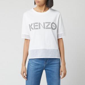 KENZO Women's Kenzo Sport Cropped T-Shirt Mix - White