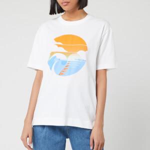 See By Chloé Women's Waves Logo T-Shirt - White Powder