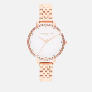 Olivia Burton Women's Rainbow Bezel Bracelet Watch - Rose Gold