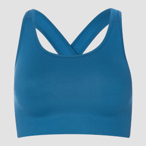 MP Women's Shape Seamless Ultra Cross Strap Sports Bra - Pilot Blue