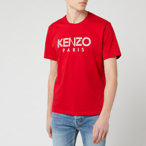 KENZO Men's Classic Paris T-Shirt - Medium Red