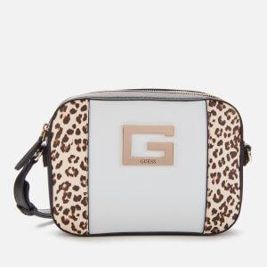 Guess Women's Kamryn Cross Body Top Zip Bag - Leopard Multi