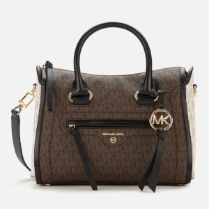 MICHAEL MICHAEL KORS Women's Carine Small Satchel - Brown Multi