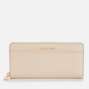 MICHAEL MICHAEL KORS Women's Jet Set Pocket Ziparound Continental - Light Sand