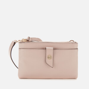 MICHAEL MICHAEL KORS Women's MK Charm Medium Tab Doublezip Cross Body Bag - Soft Pink