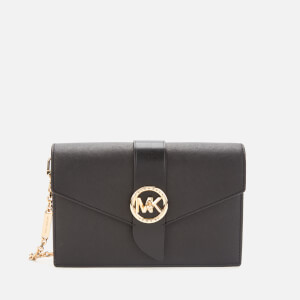 MICHAEL MICHAEL KORS Women's MK Charm Medium Wallet On Chain Cross Body Bag - Black