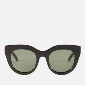 Le Specs Women's Air Heart Sunglasses - Black/Gold