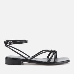 Whistles Women's Knotted Flat Sandals - Black