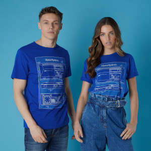 Sega Master System Blueprints Unisex T-Shirt - Royal Blue