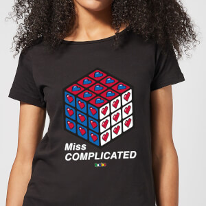 Miss Complicated Love Cube Women's T-Shirt - Black