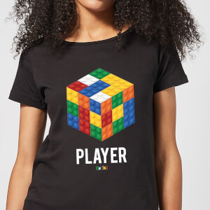 Block Rubik's Cube Player Women's T-Shirt - Black