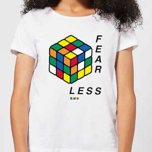 Fear Less Rubik's Cube Women's T-Shirt - White
