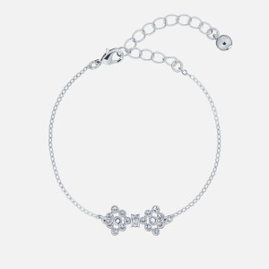 Ted Baker Women's Brinnal: Small Crystal Bow Bracelet - Silver/Crystal