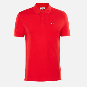 Tommy Jeans Men's Classics Solid Stretch Polo Shirt - Racing Red