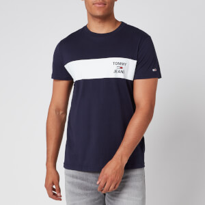 Tommy Jeans Men's Chest Stripe Logo T-Shirt - Twilight Navy