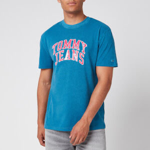 Tommy Jeans Men's Novel Varsity Logo T-Shirt - Audacious Blue