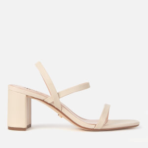 Dune Women's Marta Leather Block Heeled Sandals - Ecru