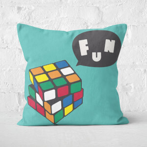 Solving Rubik's Cube Fun + Repeat Pattern Square Cushion