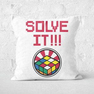 Solve It!!! Repeat Rubik's Cube Pattern Square Cushion