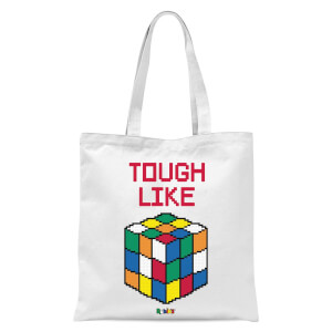 Tough Like A Rubik's Cube Tote Bag - White