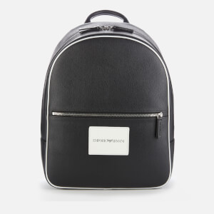 Emporio Armani Men's Backpack - Black/White