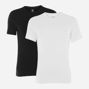 Calvin Klein Men's 2 Pack Crewneck T-Shirts - Black/White