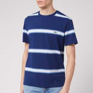 Lacoste Men's Stripe T-Shirt - Blue/White
