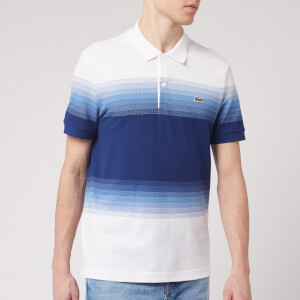 Lacoste Men's Degrade Polo Shirt - Blue/White