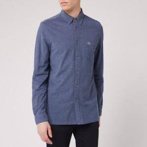 Lacoste Men's Pique Shirt - Navy Marl