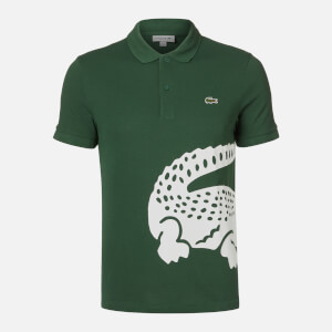 Lacoste Men's Large Croc Polo Shirt - Green