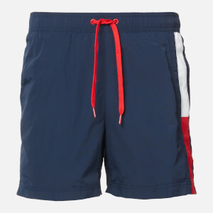 Tommy Hilfiger Men's Side Flag Swim Shorts - Pitch Blue