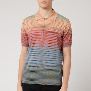 Missoni Men's Riga Summer Sunset Knitted Polo Shirt - Blue
