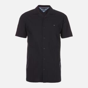 Tommy Hilfiger Men's Solid Hawaiian Shirt Short Sleeve Shirt - Desert Sky