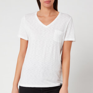 Superdry Women's Ol Essential V-Neck T-Shirt - White