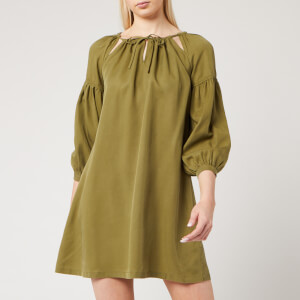 Superdry Women's Arizona Peek A Boo Dress - Capulet Olive