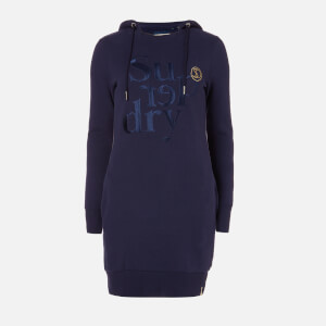 Superdry Women's Harper Hooded Sweat Dress - Atlantic Navy