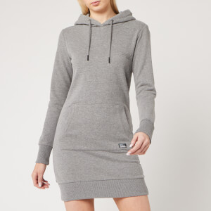 Superdry Women's Ol Sweat Dress - Elite Charcoal Marl